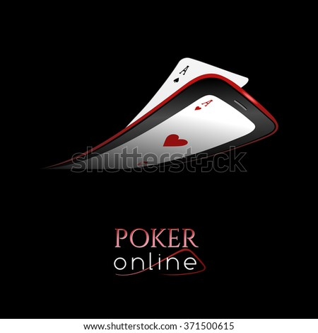 Poker online - concept for poker club or online casino - stock photo