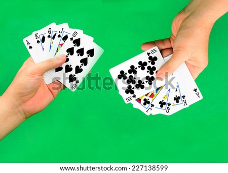 Poker playing cards. - stock photo