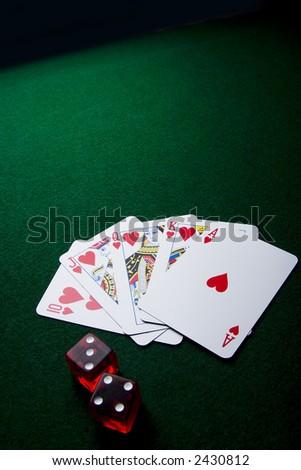 Poker series shots. - stock photo