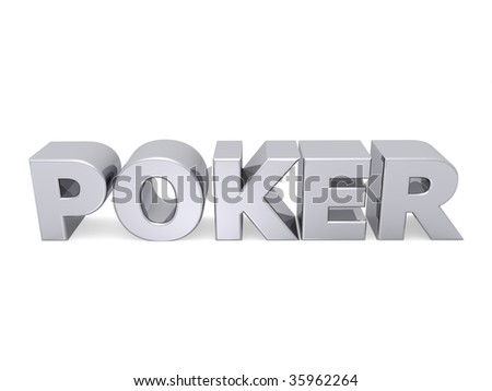 poker word with metal letters