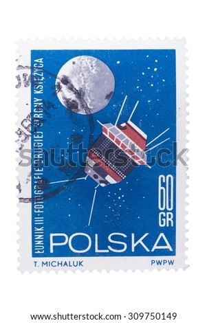 POLAND  A stamp printed in the Poland. - stock photo