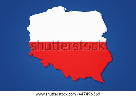 Poland Cartography Background - stock photo