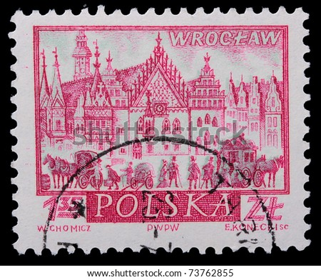Poland - CIRCA 1965: A stamp is printed in Poland, Wroclaw, CIRCA 1965.