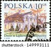 "POLAND - CIRCA 2001: A stamp printed in Poland from the ""Polish Manor Houses"" issue shows Lipkowie, Warsaw, circa 2001.  - stock photo"