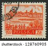 POLAND - CIRCA 1960: A stamp printed in Poland shows image of the village Stupsk, circa 1960. - stock photo