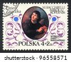 POLAND - CIRCA 1973: A stamp printed in POLAND   shows Nicolaus Copernicus Marcello  by Bacciarelli Italian painter,  circa 1973 - stock photo
