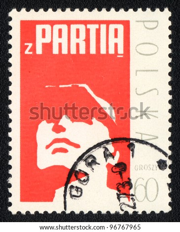 POLAND - CIRCA 1973: A stamp printed in POLAND shows The People's Party, from series, circa 1973 - stock photo