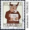 POLAND - CIRCA 1996: A stamp printed in the Poland, shows a sign of the zodiac, Taurus, circa 1996 - stock photo