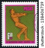 POLAND - CIRCA 1966: stamp printed by Poland, shows Hammer throw, circa 1966 - stock photo