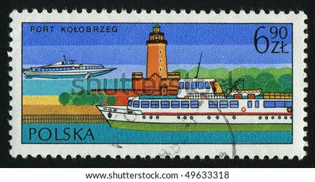 POLAND - CIRCA 1988: stamp printed by Poland, shows ship, circa 1988.