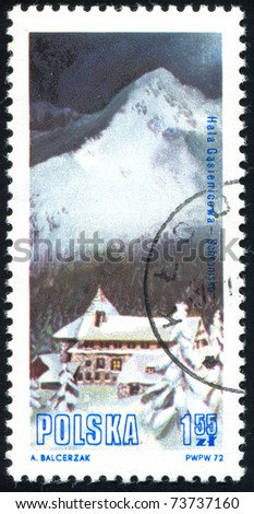 POLAND - CIRCA 1972: stamp printed in Poland, shows Mountain Lodge, circa 1972.