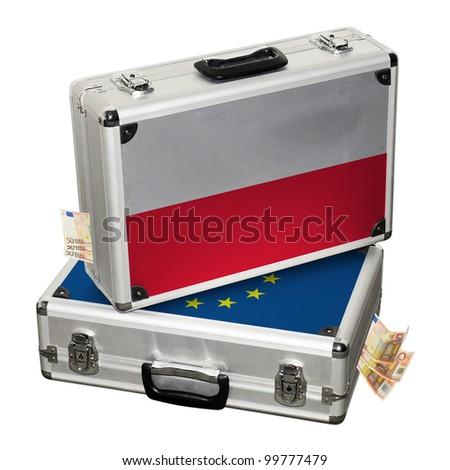 Poland financial crisis. Financial assistance. - stock photo