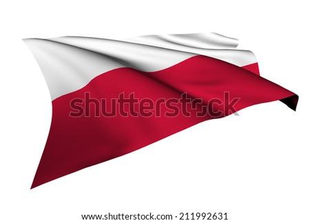 Poland flag - collection no_5  - stock photo