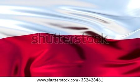 Poland Flag. 3d illustration - stock photo