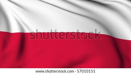 Poland flag World flags Collection - stock photo