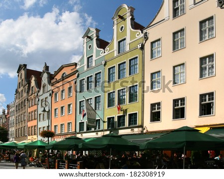 Poland, Gdansk, city center, historic buildings, - stock photo