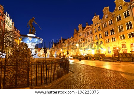 Poland, Gdansk, Long Market - stock photo