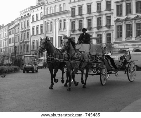Poland Krakow Horse Carriage