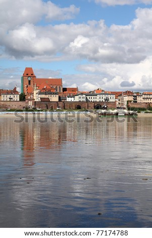 Poland - Torun, city divided by Vistula river between Pomerania and Kuyavia regions. Old town.