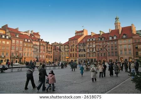 Poland, Warsaw, Market place - stock photo