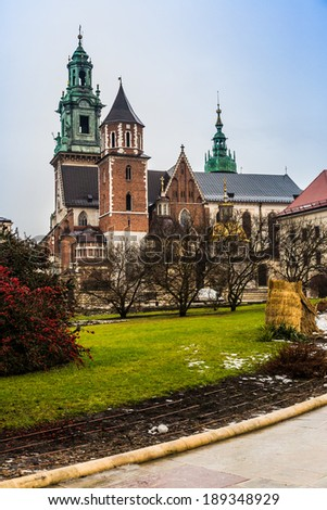 Poland, Wawel Cathedral, the part of Wawel Castle complex in Krakow