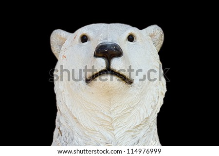 polar bear on black background - stock photo