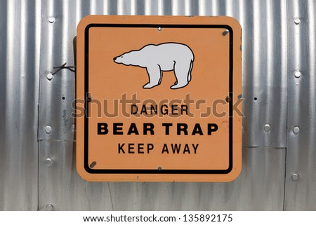Polar bear trap - stock photo
