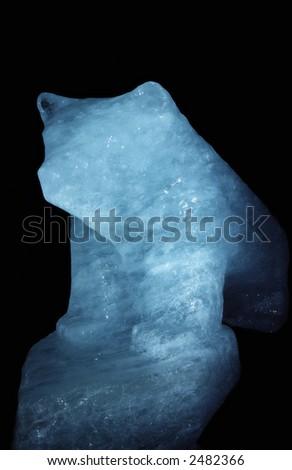 Polarbear form in ice. - stock photo