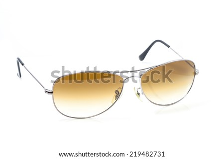 Polarized Sunglasses isolated on white in brown color