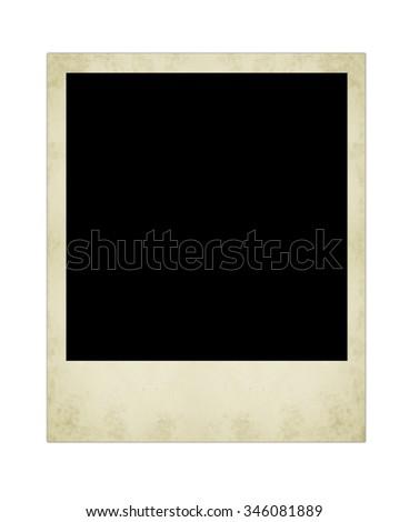 polaroid  photo isolated on the white backgrounds - stock photo