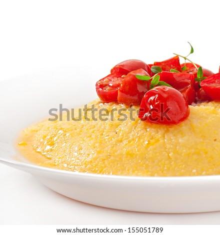 Polenta - Italian traditional food - stock photo