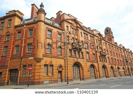 Police and Fire Station by Woodhouse, Willoughby and Langham, 1901-1906. Manchester, UK. - stock photo