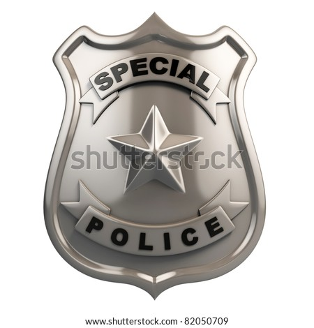 police badge isolated - stock photo