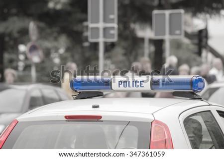 Police car. - stock photo