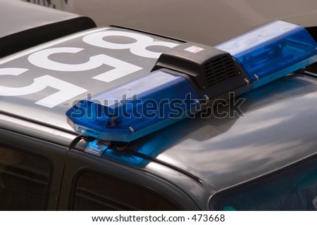 police car rooftop - stock photo