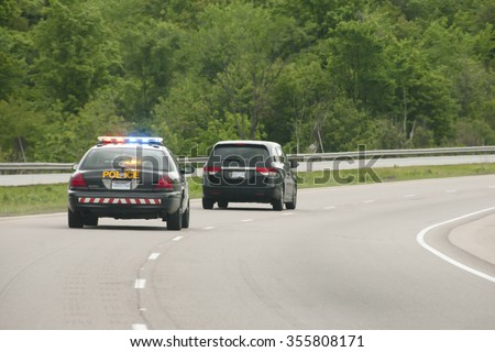Police Chase - stock photo