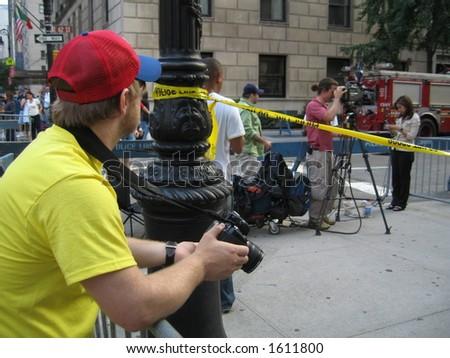police crime scene ny - stock photo