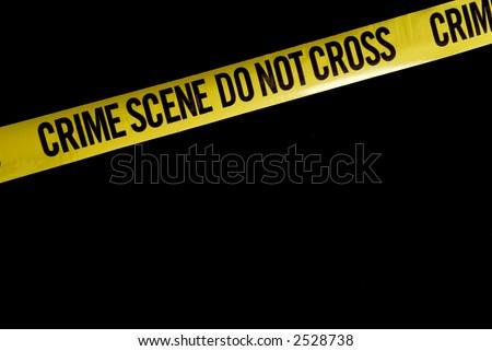 Police Crime Tape - stock photo