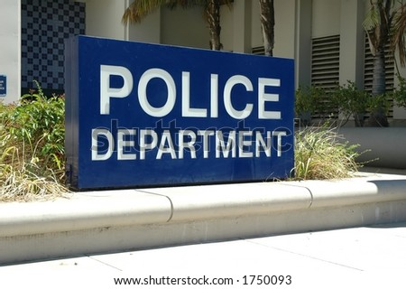 Police Department Sign - stock photo