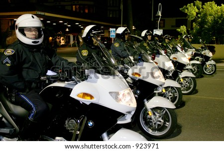 Police Force - stock photo