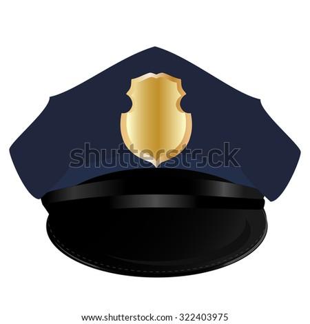 Police hat, police hat isolated, police hat raster, sheriff - stock photo