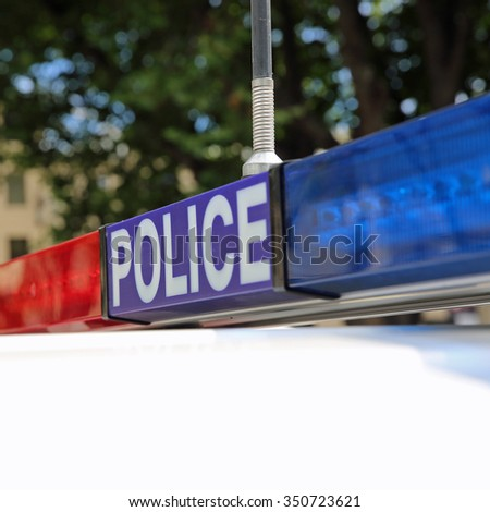 Police in Hobart. Tasmania. Australia - stock photo
