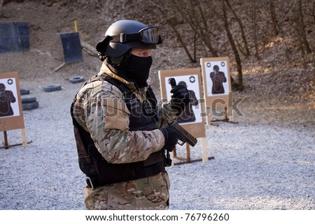Police instructor - stock photo