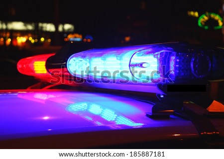 Police lights - stock photo