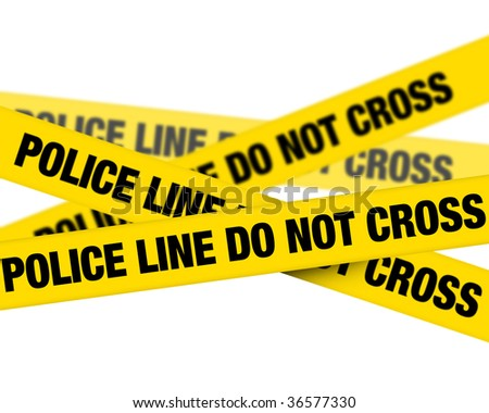 Police line - stock photo