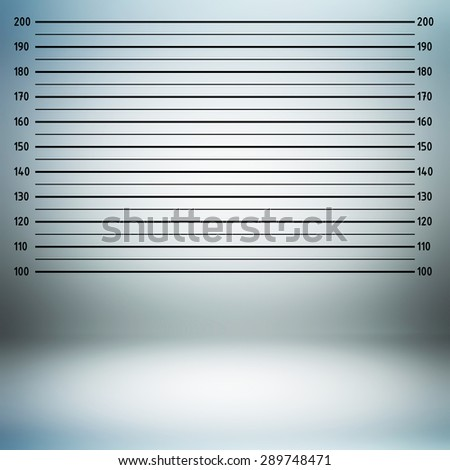 Police lineup or mugshot background in centimeter unit