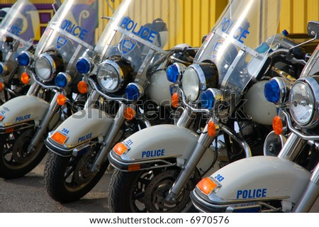 Police Motorcycles - stock photo