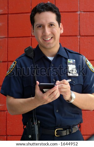 police officer - stock photo