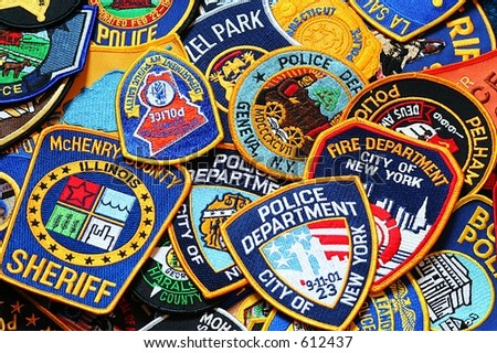 police patches - stock photo