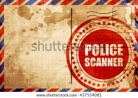 police scanner - stock photo